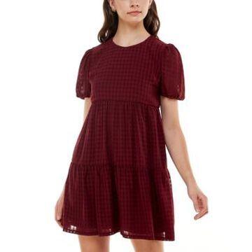 Speechless Seersucker Tiered Dress