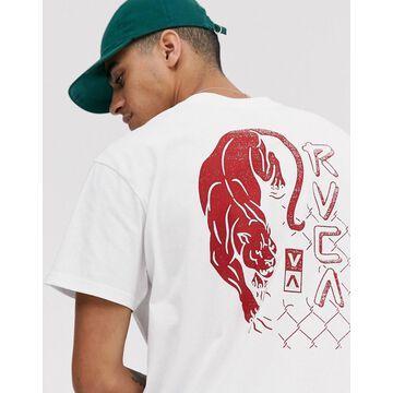 RVCA Powler printed t-shirt in white