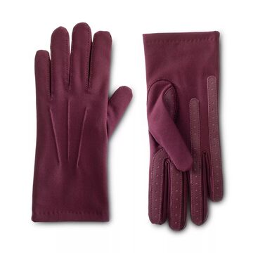 Women's isotoner Lined Water Repellent Three Draw Spandex Gloves