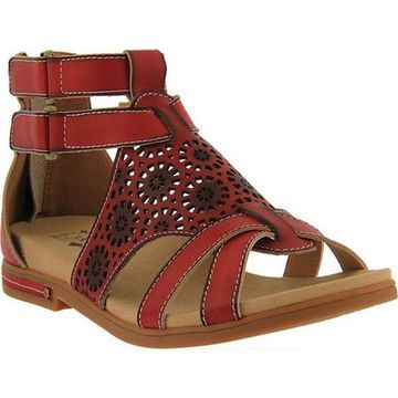 L'Artiste by Spring Step Women's Dezra Gladiator Sandal Red Leather