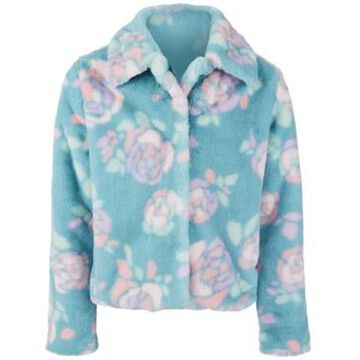 Epic Threads Big Girls Rose-Print Faux-Fur Jacket, Created For Macy's