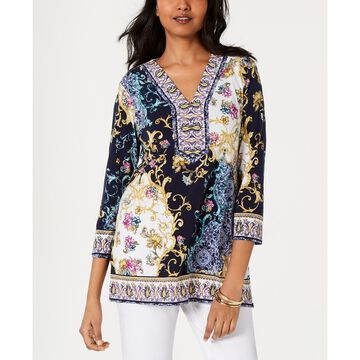 Embellished 3/4-Sleeve Tunic, Created for Macy's
