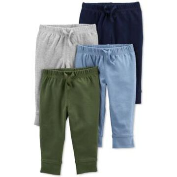 Carter's Baby Boys 4-Pack Solid-Tone Pull-On Pants