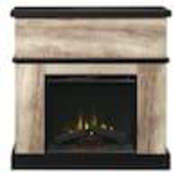 Dimplex 40-in W Distressed Oak Infrared Quartz Electric Fireplace