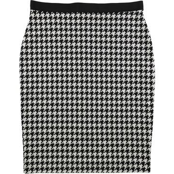 Alfani Womens Houndstooth Midi Skirt