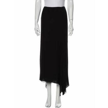 Silk Long Skirt Black
