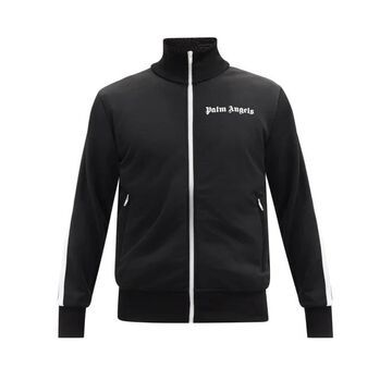 Palm Angels - Logo-print Jersey Track Jacket - Mens - Black