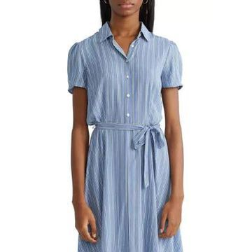 Chaps Women's Petite Fit And Flare Shirtdress - -