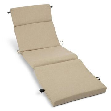 Blazing Needles Dacron 1-Piece Sandstone Patio Chaise Lounge Chair Cushion