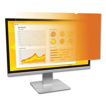 """3m Data Products Gold Frameless Privacy Filter For 19"""" Widescreen Monitor, 16:10 Aspect Ratio"""