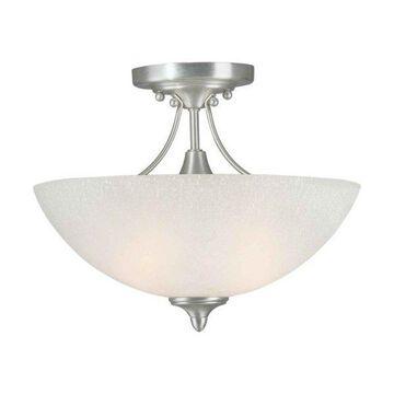 Forte Lighting 2378-02 2 Light Semi Flush Ceiling Fixture