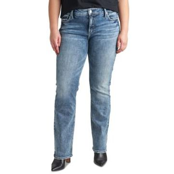 Silver Jeans Co. Plus Size Elyse Mid-Rise Slim-Fit Bootcut Jean