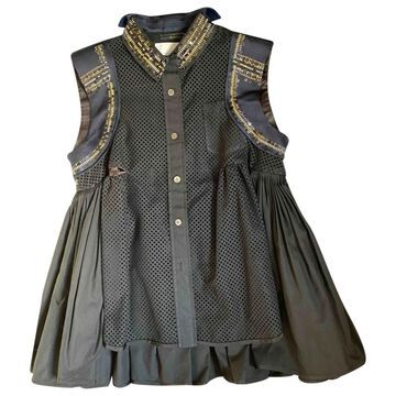 Sacai \N Black Polyester Tops