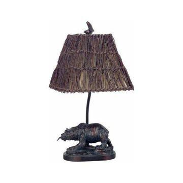 Cal Lighting BO-878 Table Lamp, Antique Bronze
