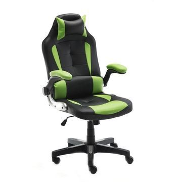 ALEKO Ergonomic Reclining High-Back Office/Gaming Chair - Green and Black