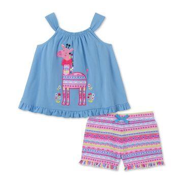 Toddler Girls 2-Pc. Tank Top & Shorts Set