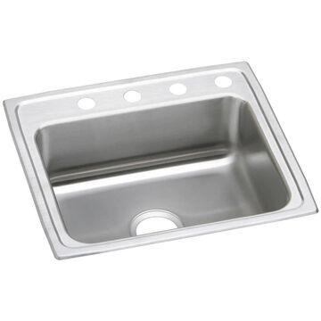 Elkay Celebrity Drop-In 25-in x 22-in Brilliant Satin Single Bowl 3-Hole Kitchen Sink Stainless Steel   PSR25223