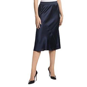 Atm Anthony Thomas Melillo Silk A-Line Skirt
