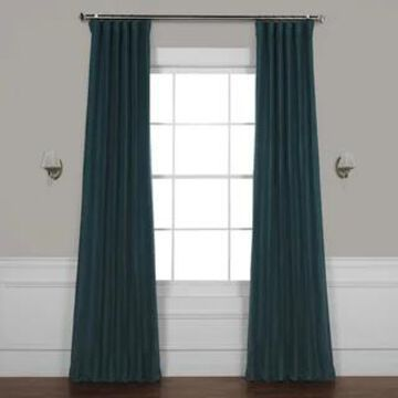 Exclusive Fabrics Bellino Blackout Curtain (50 X 96 - Bayberry Teal)