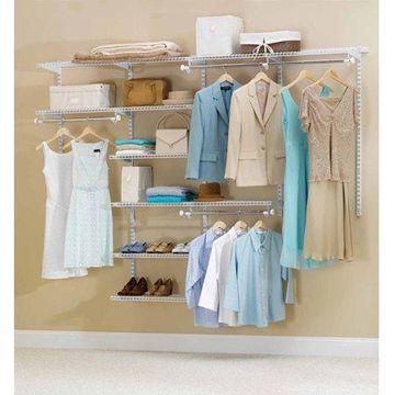 Rubbermaid Configurations Closet Kits, 4'-8', Deluxe, White
