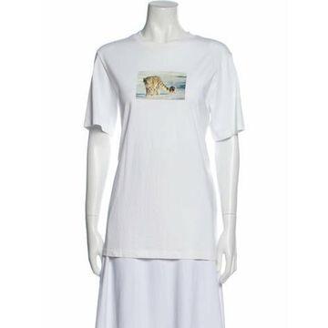 Oamc Graphic Print Crew Neck T-Shirt White Oamc Graphic Print Crew Neck T-Shirt