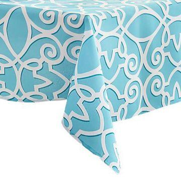 Elrene Chase 60-Inch x 120-Inch Oblong Indoor/Outdoor Tablecloth in Turquoise