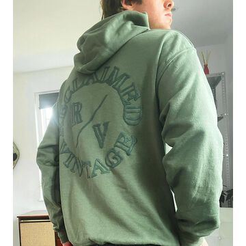 Reclaimed Vintage inspired hoodie with logo in khaki-Green