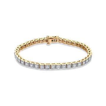 Auriya 2 1/4ctw Round Diamond Tennis Bracelet 14k Two-Tone Gold 7-inch