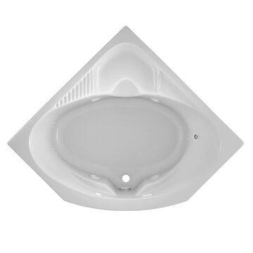 Jacuzzi Capella 55-in W x 55-in L White Acrylic Corner Center Drain Drop-In Whirlpool Tub   CAP5555WCR2HXW