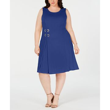 Plus Size Sleeveless Embellished Fit & Flare Dress, Created for Macy's