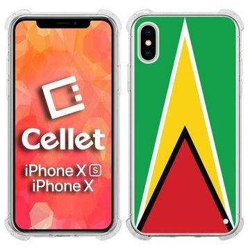 Cellet TPU / PC Proguard Case with Guyana Flag for Apple iPhone Xs & X