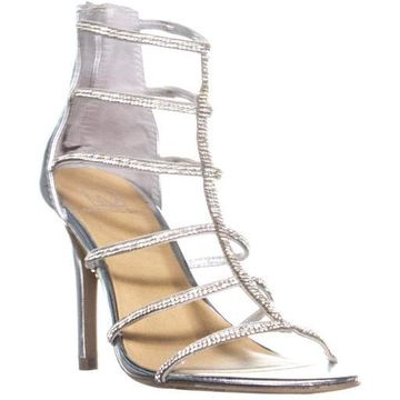 Material Girl Womens Raissa Leather Open Toe Formal Strappy