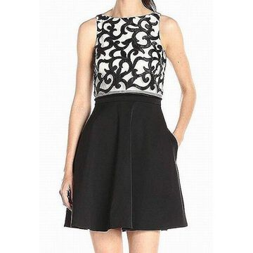 Aidan Mattox Womens A-Line Popover Swirl Dress