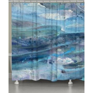 Laural Home Rolling Waves Shower Curtain Bedding