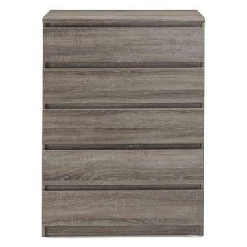 Pemberly Row 5 Drawer Chest in Truffle