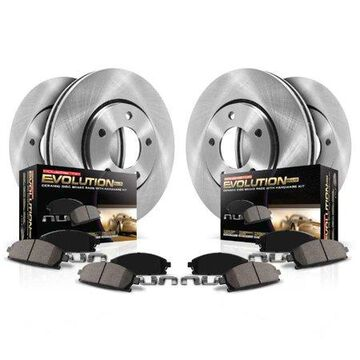 Power Stop Front and Rear Stock Replacement Brake Pad and Rotor Kit KOE4083