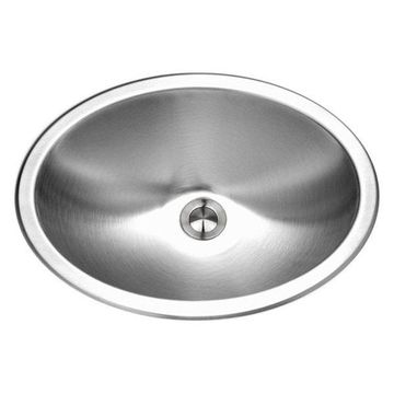 Houzer CH-1800-1 Opus Undermount Stainless Steel Oval Bowl Lavatory Sink