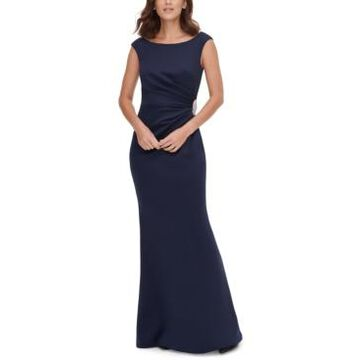 Jessica Howard Petite Embellished-Waist Gown