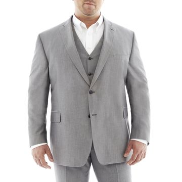 JF J. Ferrar Gray Suit JacketBig & Tall