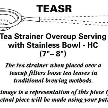 Reed & Barton Forum (Stainless) Tea Strainer Overcup Serving-Stainless Bowl HC