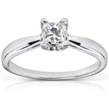 Annello by Kobelli 14k White Gold 1/2ct TDW Diamond Solitaire Engagement Ring (H-I, I1-I2 (7)