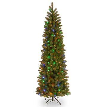 National Tree Company 6.5-ft. Pre-Lit LED Downswept Douglas Fir Pencil Slim Artificial Christmas Tree