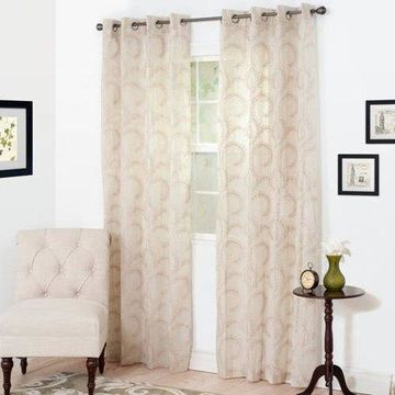 Somerset Home Andrea Embroidered Curtain Panel