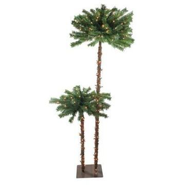 Northlight 6' Prelit Artificial Tropical Palm Tree Clear Lights