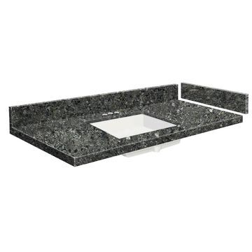 Transolid 43-in Tempest Quartz Single Sink Bathroom Vanity Top in Gray | VT43.5X22-1KU-4K-4