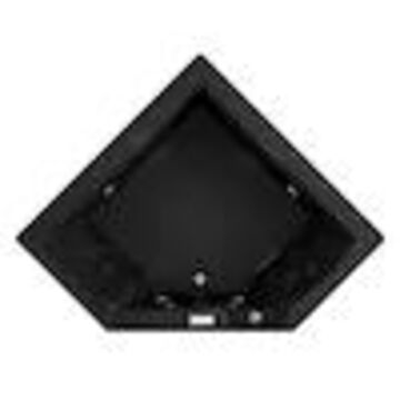 Jacuzzi Fuzion 65.75-in Black Acrylic Corner Center Drain Drop-In Whirlpool Bathtub
