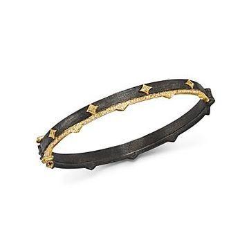 Armenta 18K Yellow Gold & Blackened Sterling Silver Old World Diamond Bracelet