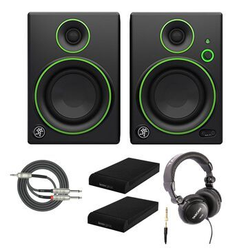 Mackie Multimedia Bluetooth Monitor with Headphones and Knox Gear Isolation Pads