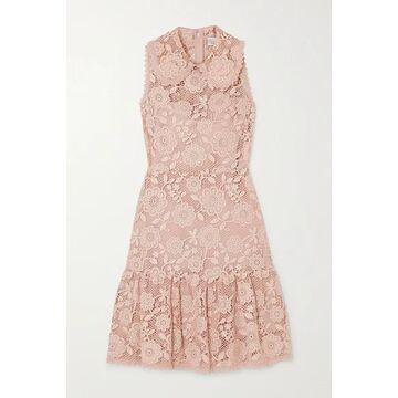 REDValentino - Ruffled Lace Mini Dress - Blush