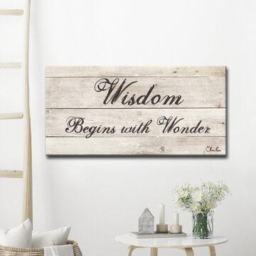 Ready2HangArt 'Wisdom' Inspirational Canvas Art - Brown
